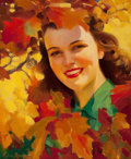 Pin-up and Glamour Art, FREDERICK SANDS BRUNNER (American, 1886-1954). Autumn Patterns,This Week magazine cover, The San Francisco Chronicle, O...