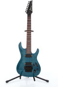 Musical Instruments:Electric Guitars, 2000 Ibanez RGA7 Teal 7-String Electric Guitar # F0051697....