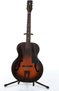 Musical Instruments:Acoustic Guitars, Vintage Lombardi Gibson Copy Sunburst Archtop Acoustic Guitar #N/A....