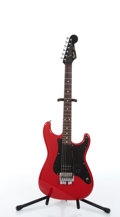 Musical Instruments:Electric Guitars, 1986 Squier By Fender Stratocaster Red Electric Guitar #A044260....