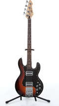 Musical Instruments:Bass Guitars, 1982 Peavey T-40 Sunburst Electric Bass Guitar # 01136291....