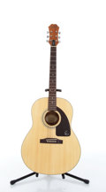 Musical Instruments:Acoustic Guitars, 1998 Epiphone AJ-15 Natural Acoustic Guitar # Z98121476....