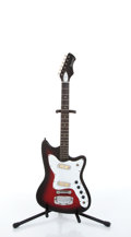Musical Instruments:Electric Guitars, 1967 Holiday 9213 Silhouette Red Burst Electric Guitar # N/A....