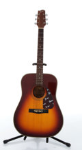 Musical Instruments:Acoustic Guitars, 1989 Fender F-220SB Red Burst Acoustic Guitar # 5221660....
