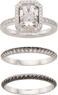 Estate Jewelry:Rings, Diamond, Colored Diamond, Gold, Platinum Ring Set, Michael B.. ...