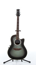 Musical Instruments:Acoustic Guitars, 1982 Celebrity By Ovation CC57 Olive Sunburst Electric AcousticGuitar # 272874....