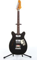 Musical Instruments:Electric Guitars, 1960s Micro-Fret Spacetone Black Electric Guitar #1892...