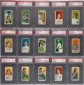 Baseball Cards:Sets, 1909-11 T206 White Border PSA VG-EX 4 Starter Set (55 Different)With Mathewson, Young and Scarce Brands....