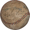 Autographs:Baseballs, Circa 1927 New York Yankees Signed Baseball with Ruth, Gehrig....
