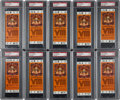 Football Collectibles:Tickets, 1974 Super Bowl VIII Miami Dolphins vs. Minnesota Vikings Full High Grade Tickets Lot of 448 - With Two PSA Gem Mint 10 Exampl...