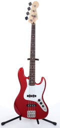 Musical Instruments:Bass Guitars, 2001 Fender Jazz Red Electric Bass Guitar # MZ0172503....
