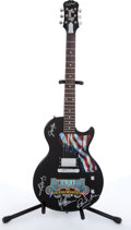 Musical Instruments:Electric Guitars, 1996 Epiphone Alabama Limited Edition Farewell Tour Black ElectricGuitar Autographed By Alabama Serial# SJ8000-1720....