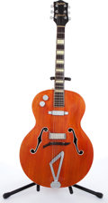 Musical Instruments:Acoustic Guitars, Gretsch Synchromatic Orange Archtop Acoustic Guitar # N/A....