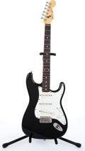 Musical Instruments:Electric Guitars, Mid 1980's Squier By Fender Stratocaster Black Electric Guitar#E734437....
