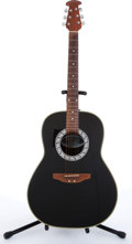 Musical Instruments:Acoustic Guitars, 1977 Celebrity By Ovation CC11 Black Acoustic Guitar #106500....
