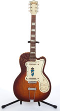 Musical Instruments:Electric Guitars, 1950s Silvertone Twin Thin 1381 Jimmy Reed Sunburst Electric Guitar # N/A....