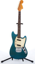 Musical Instruments:Electric Guitars, 1967 Fender Mustang Teal Electric Guitar #197470....