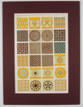 Antiques:Posters & Prints, Owen Jones. Two Color Plates on Persian and Assyrian Ornamentationfrom The Grammar of Ornament.... (Total: 2 Items)