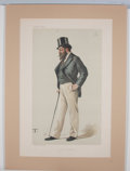 Antiques:Posters & Prints, Two Charming Chromolithograph Caricatures from VanityFair.... (Total: 2 Items)