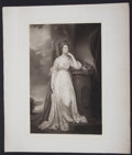 Antiques:Posters & Prints, Charming Lithographic Portrait of an Eighteenth-Century Lady....