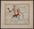 Antiques:Posters & Prints, Andreas Stech. Handsome Hand-Colored Astrological Print ofAquarius....