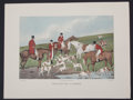 """Antiques:Posters & Prints, H. Alken. Striking Reproduction Entitled, """"Fox Hunting theDeath.""""..."""