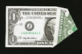 Error Notes:Foldovers, Fr. 1925-J $1 1999 Federal Reserve Note. Very Fine.. ...