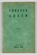 Books:First Editions, Edna St. John. Forever Green....