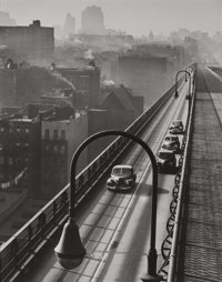 HAROLD ROTH (American, b. 1918) Williamsburg Bridge, 1947 Gelatin silver, 1997 Paper: 13-3/4 x 11