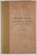 Books:Signed Editions, Francis L. Fugate. Signed. Frontier College. Texas Western at El Paso....