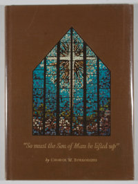 """[Carl Hertzog, designer]. George W. Burroughs. Signed. """"So must the Son of Man be lifted up."""""""
