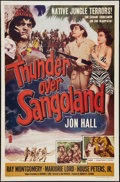 "Movie Posters:Adventure, Thunder Over Sangoland (Lippert, 1955). One Sheet (27"" X 41"").Adventure.. ..."