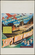 "Movie Posters:War, Ships with Wings (United Artists, 1942). Window Card (14"" X 22"").War.. ..."