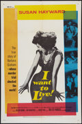 """Movie Posters:Drama, I Want to Live! (United Artists, 1958). One Sheet (27"""" X 41""""). Drama.. ..."""