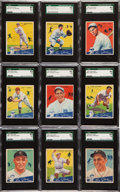 Baseball Cards:Lots, 1934 Goudey Baseball SGC 86 NM+ 7.5 and SGC 84 NM 7 Collection (9)....