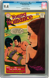 Young Romance #153 Savannah pedigree (DC, 1968) CGC NM 9.4 Off-white to white pages