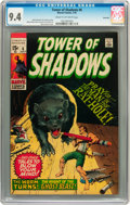 Bronze Age (1970-1979):Horror, Tower of Shadows #6 Savannah pedigree (Marvel, 1970) CGC NM 9.4Cream to off-white pages....