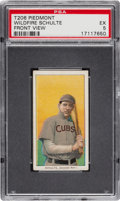 Baseball Cards:Singles (Pre-1930), 1909-11 T206 Piedmont Wildfire Schulte, Front View PSA EX 5....
