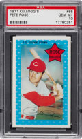 Baseball Cards:Singles (1970-Now), 1971 Kellogg's Pete Rose #65 PSA Gem Mint 10....