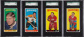 Hockey Cards:Lots, 1964-65 Topps Hockey High Grade Quartet (4) - All SGC Graded. ...