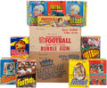 Football Cards:Boxes & Cases, 1961 - 1989 Football and Basketball Wax Pack Boxes Collection (10Boxes & 2 Cases). ...