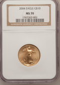 Modern Bullion Coins, 2004 G$10 Quarter-Ounce Gold Eagle MS70 NGC. NGC Census: (1235).PCGS Population (418). Numismedia Wsl. Price for problem ...