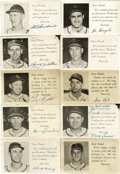 "Autographs:Post Cards, Early 1950s St. Louis Cardinals Signed Postcards Lot of 10. Thisgroup of ten signed 3.5x5.5"" postcards has each been signe..."