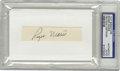 Autographs:Index Cards, Roger Maris Signed Cut Signature. The hero of the 1961 home runchase signed a blank slip of paper in 10/10 black ink, late...