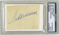 Autographs:Others, Ted Williams Signed Cut Signature. Strong blue ink signature wasclipped from a page and affixed to a piece of paper about ...
