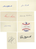"""Autographs:Index Cards, Hall of Famers Signed Index Cards Lot of 54. Massive collection of signatures are applied almost exclusively to blank 3x5"""" i..."""