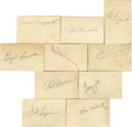 Autographs:Letters, Vintage Baseball Stars Cut Signatures Lot of 23. Impressivecollection of vintage baseball autographs are made available he...