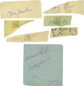Autographs:Letters, Baseball Legends Cut Signatures Lot of 34. What we offer hereamounts to thirty-four great cut signatures courtesy of some ...