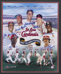 Autographs:Others, St. Louis Cardinals MVP's Multi-Signed Print. Seven Cardinalshonored as the best in the National League applied their 10/1...