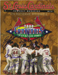 Autographs:Others, 2000 St. Louis Cardinals Multi-Signed Program. After winning an NLCentral title in 2000, the St. Louis Cardinals produced ...